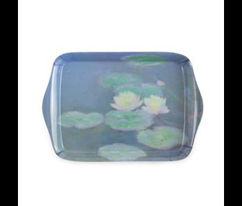 Mini dienblad , 21 x 14 cm, Monet, Waterlelies in avondlicht