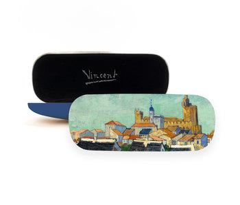 Brillenetui,Ansicht von Saintes-Maries-de-la-Mer, Van Gogh