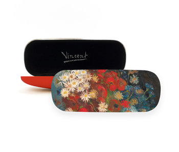 Étui à lunettes, Nature morte aux fleurs des champs, Van Gogh