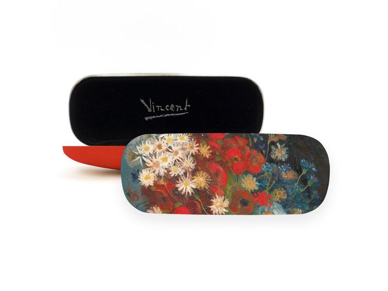 Brillenkoker, Stilleven met akkerbloemen en rozen, Van Gogh