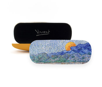Spectacle Case, Landscape with Wheat sheaves , Van Gogh