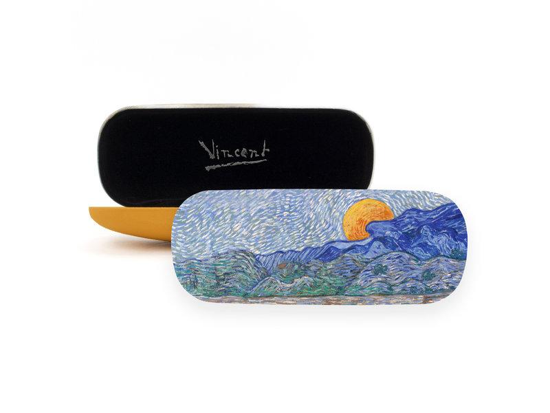 Étui à lunettes, Paysage aux gerbes de blé , Van Gogh