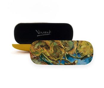 Brillenkoker, 4 uitgebloeide Zonnebloemen, Van Gogh