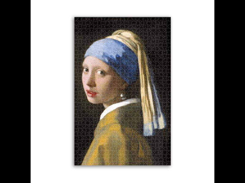 Puzzle, 1000 piezas, Vermeer, niña con un pendiente de perla