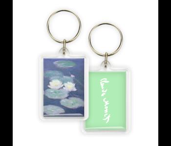 Sleutelhanger, Monet, Waterlelies in avondlicht
