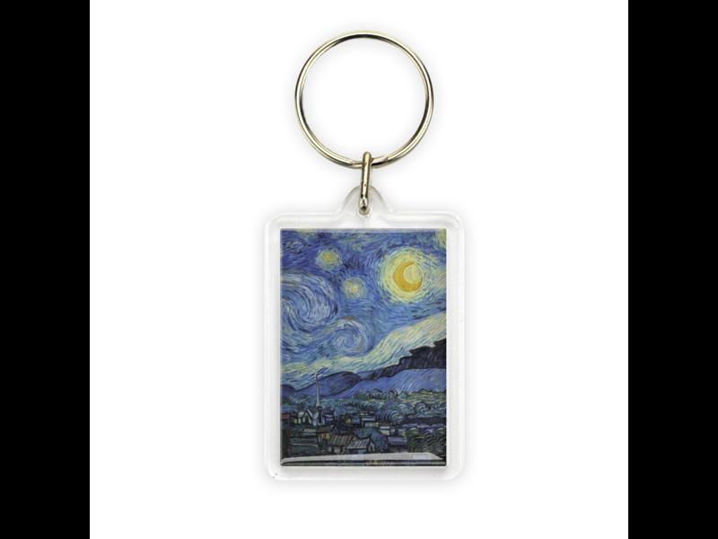 Key ring, Monet, Starry Night, Vincent van Gogh