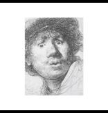 Softcover kunst schetsboek,  Rembrandt, ets, Verbaasde blik