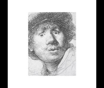 Cahier d'artiste, Rembrandt, visage curieux