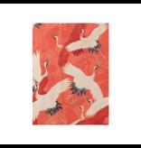 Cahier d'artiste, Grues blanches et rouges
