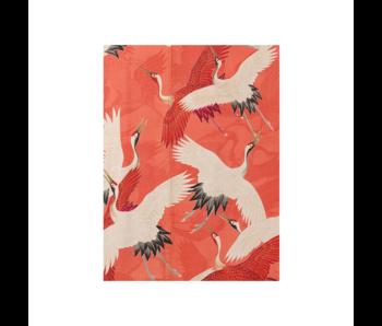 Artist Journal,  Witte en rode kraanvogels