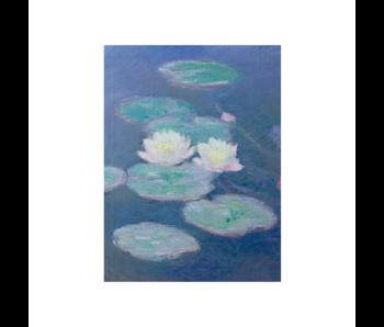 Diario del artista, Nenúfares a la luz del atardecer, Monet