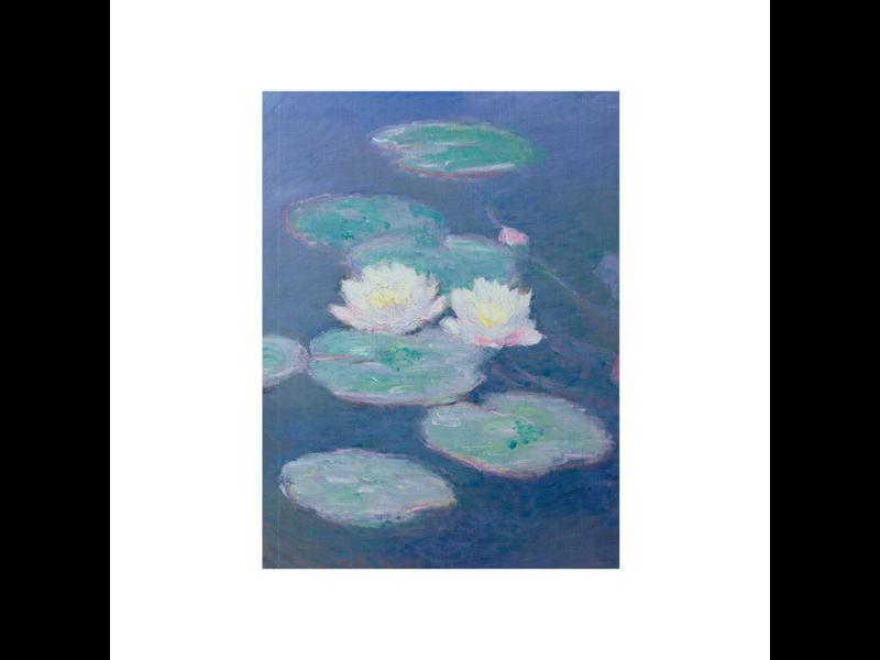 Softcover art sketchbook, Monet, Waterlelies in evening light