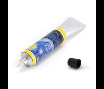 Lápiz tubo de pintura, Vincent van Gogh, noche estrellada