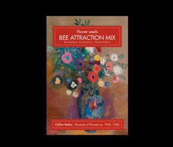 Carte postale avec graines, Odilon Redon, Bouquet de Fleurs