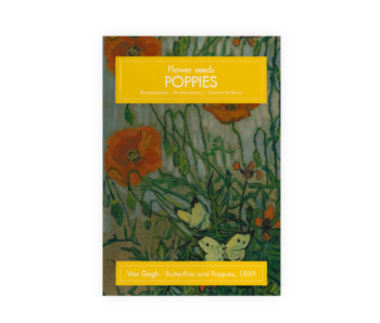 Postcard with seeds, Van Gogh, Butterflies and Poppies