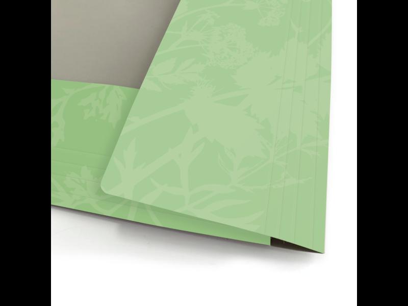 Documentenmap met elastiekje aardebloem, Hortus Botanicus