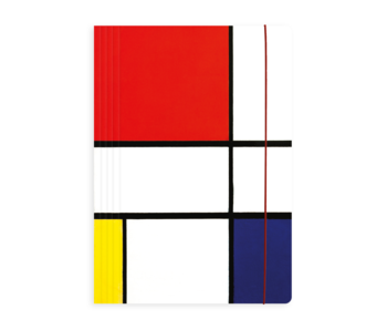 Documentenmap met elastische band, Mondriaan