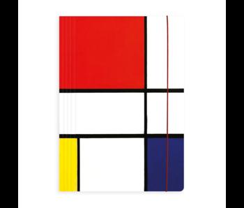 Dokumentenmappe mit Gummiband, Mondrian