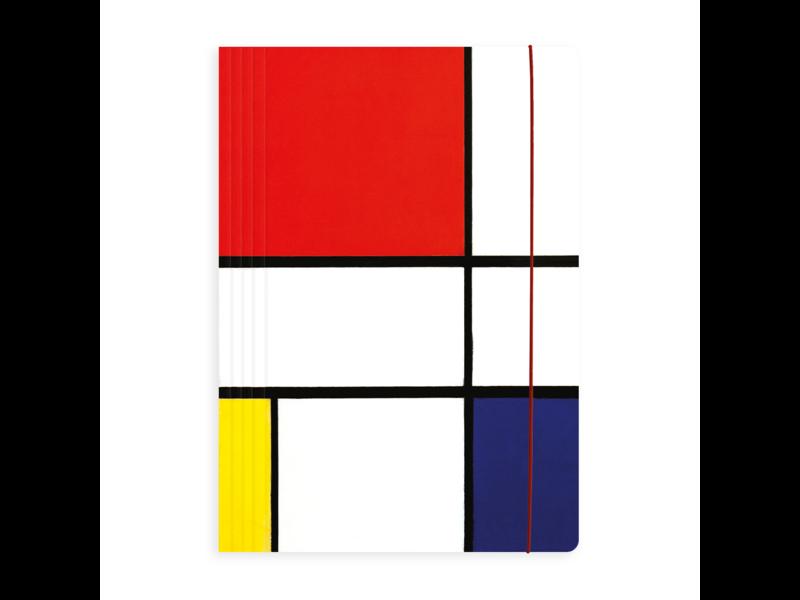 Carpeta portadocumentos con banda elástica, A4, Mondrian