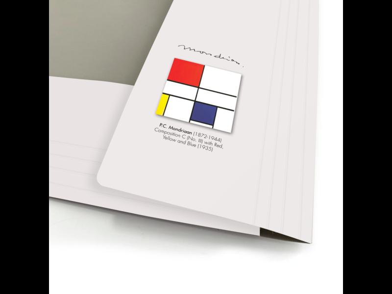 Porte-documents avec bande élastique, A4, Mondrian