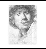 Dokumentenmappe mit Gummiband , Rembrandt, neugieriges Gesicht