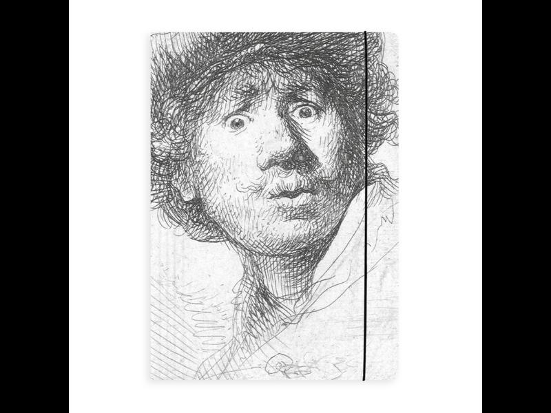 Documentenmap met elastiekje , Rembrandt, Verbaasde Blik