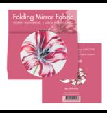 Miroir de poche pliant, microfiber, Merian, Trois tulipes