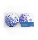 Posavasos, juego de 4, Bleu de Delft,  pájaros azules, Rijksmuseum