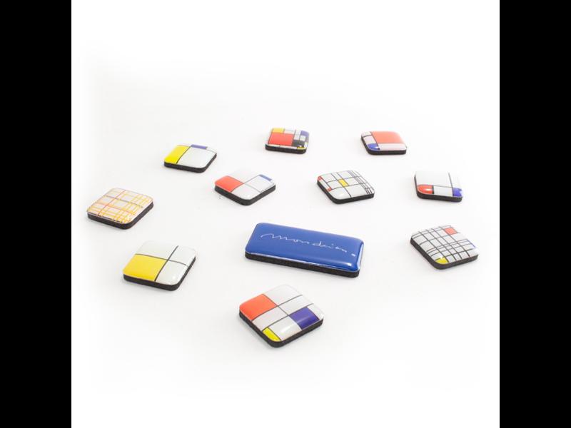 Ensemble de mini aimants, Piet Mondrian