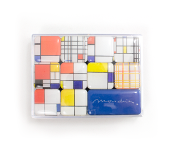 Ensemble de mini aimants, Piet Mondriaan