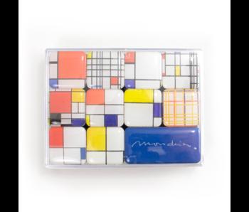 Mini Magneten Set, Piet Mondriaan