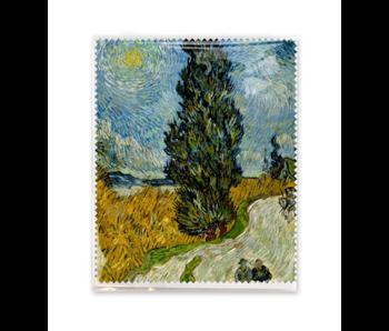 Brillendoekje, 15x18 cm, Landweg in de Provence bij nacht, Van Gogh