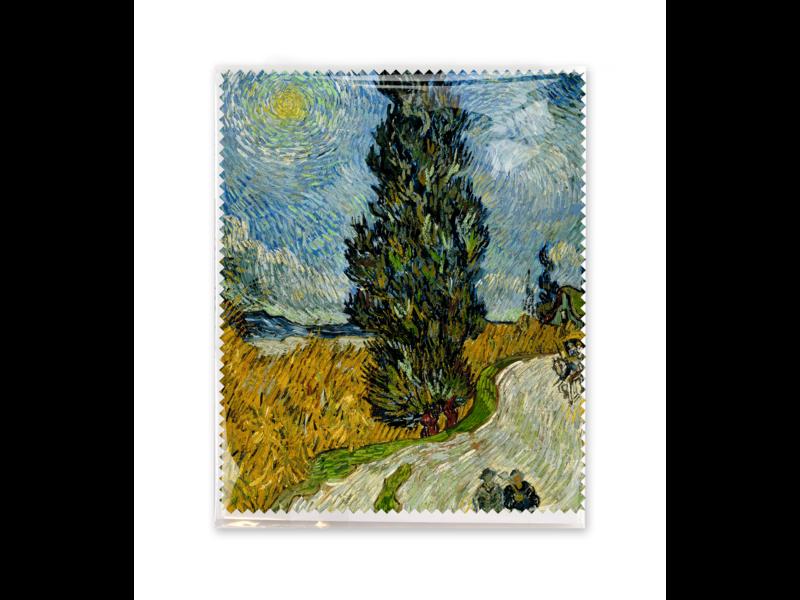 Brillendoekje,  Landweg in de Provence bij nacht, Van Gogh