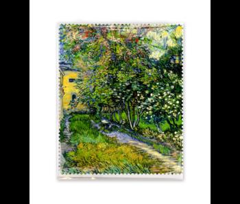 Lens cloth, 15x18 cm, Garden in Saint-Remy, Vincent van Gogh