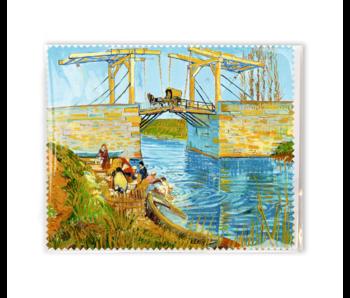 Brillenputztuch ,15x18 cm Brücke bei Arles, Vincent van Gogh