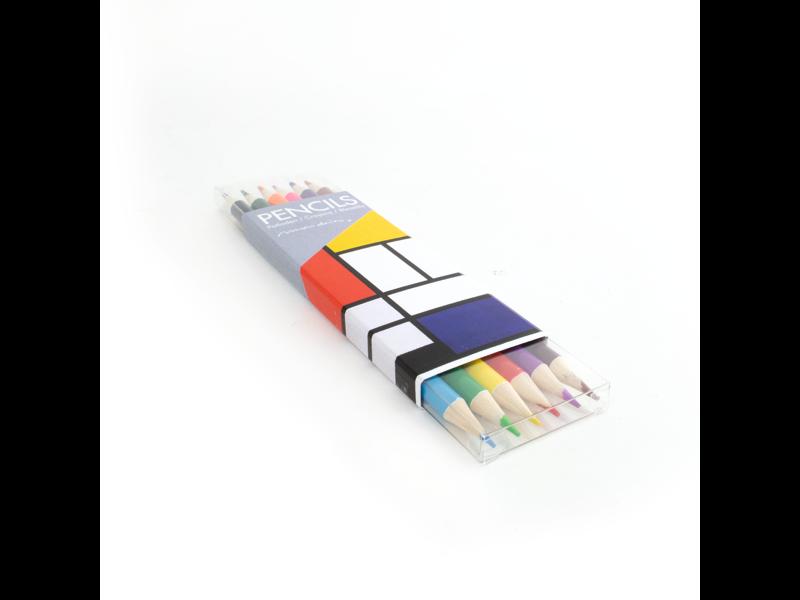 Ensemble de crayons de couleur, Mondrian
