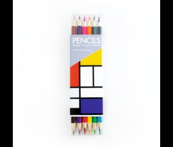 Ensemble de crayons de couleur, Mondriaan