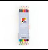 Satz Buntstifte, Mondrian