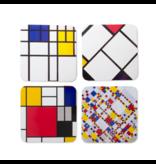 Untersetzer,  4er-Set, Mondrian