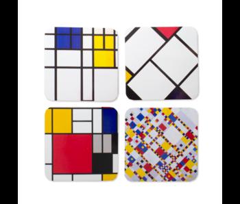 Onderzetters, set van 4 , Compositie, Mondriaan