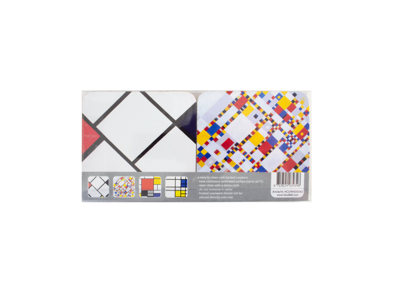 Dessous de verre, lot de 4, Mondrian