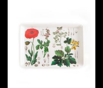 Mini plateau, 21 x 14 cm, Coquelicot, Hortus Botanicus