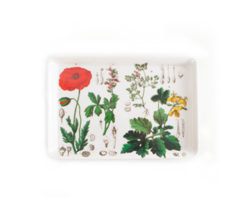 Mini Tablett, 21 x 14 cm, Mohn, Hortus Botanicus