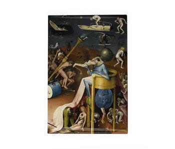 Koelkastmagneet, Tuin der Lusten, Jheronimus Bosch, blauw figuur