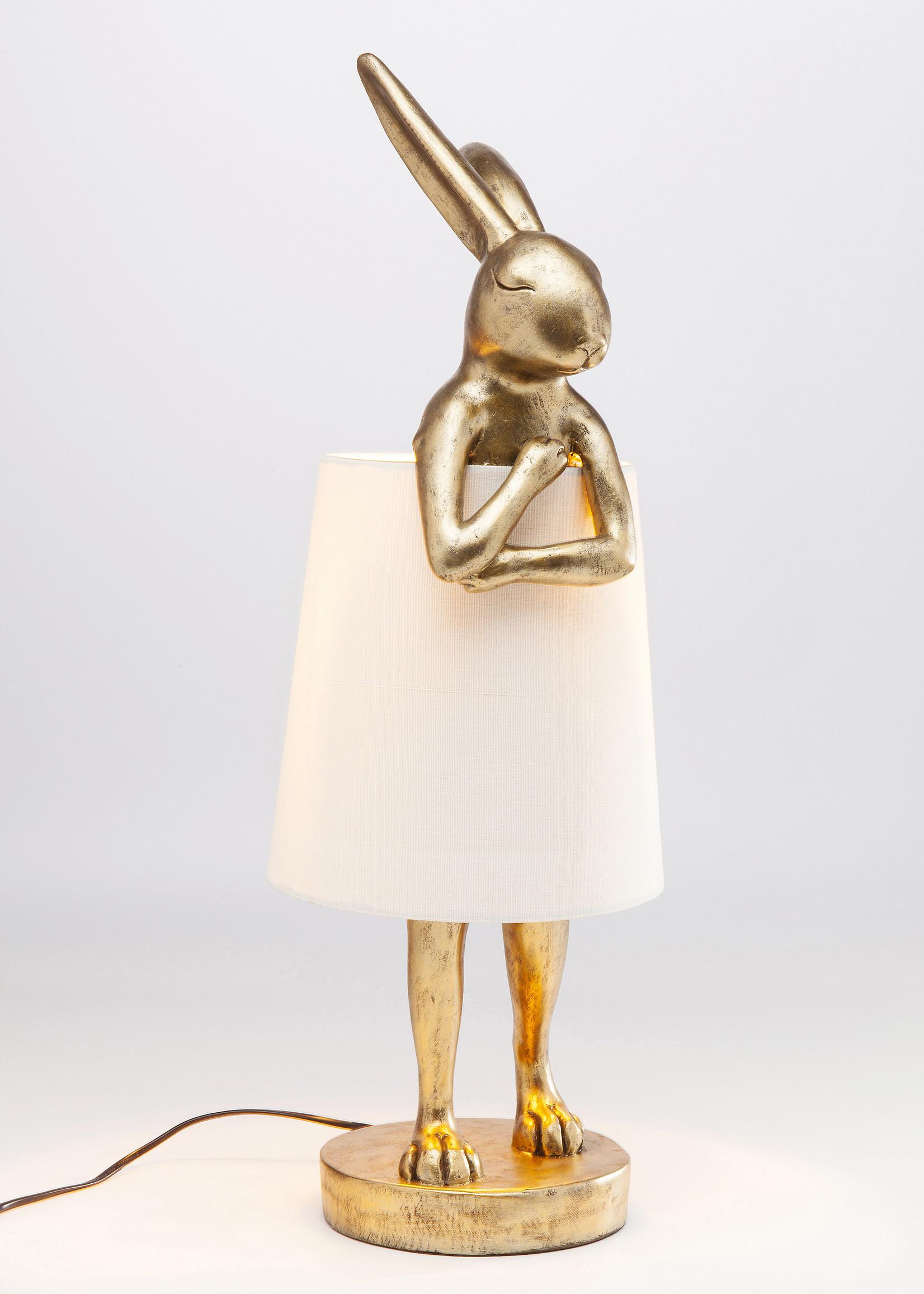 KARE DESIGN Table Lamp Animal Rabbit Gold