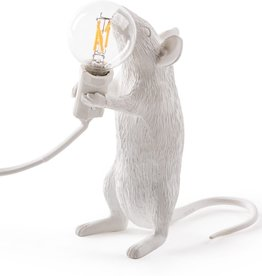 "Selletti ""MOUSE LAMP-STEP""  - STANDING WHITE"