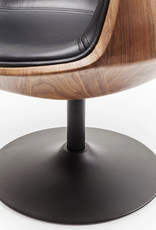 KARE DESIGN Swivel Armchair Club Walnut