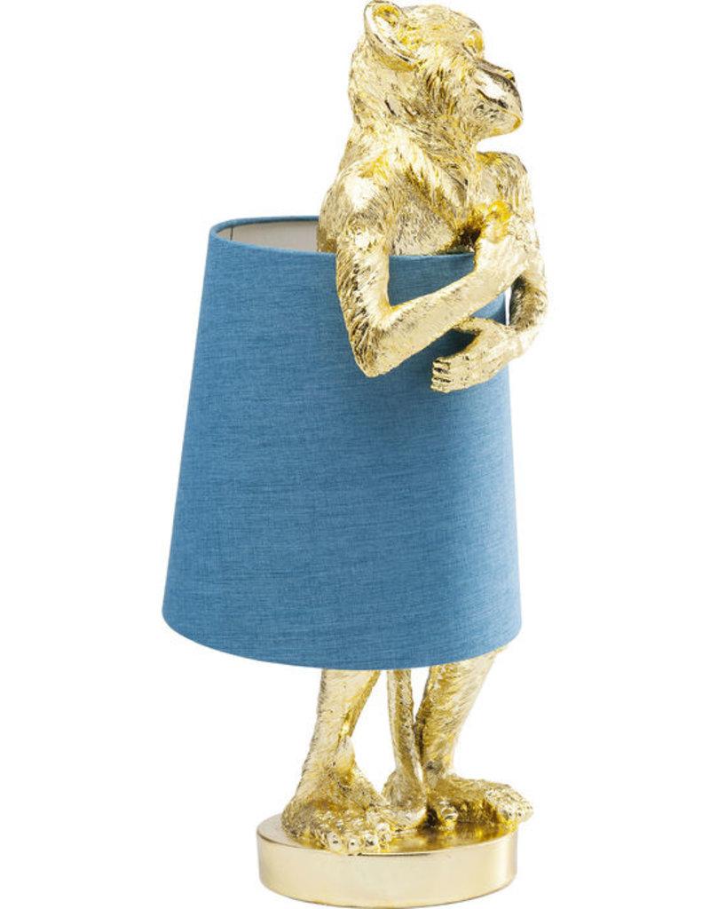 KARE DESIGN Table Lamp Monkey Gold Blue