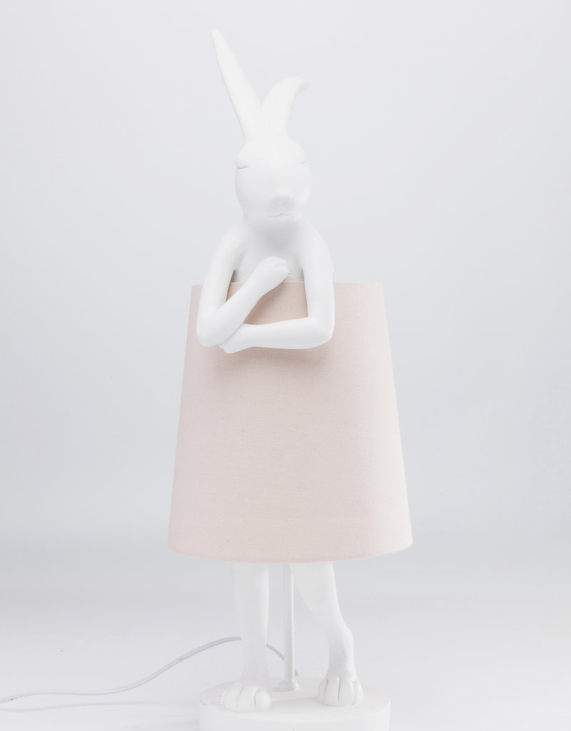 KARE DESIGN Table Lamp Animal Rabbit White