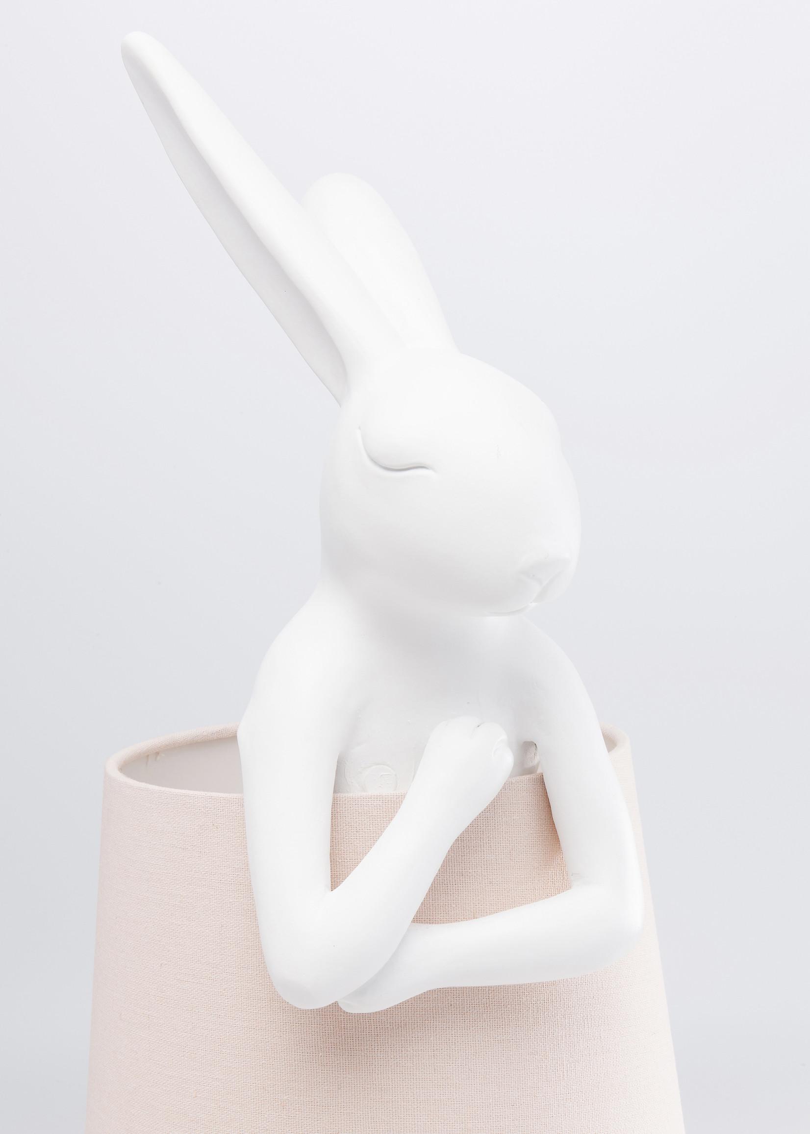 KARE DESIGN Table Lamp Animal Rabbit White